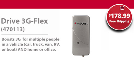 weBoost Drive 3G-Flex Cell Phone Signal Booster